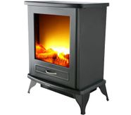 Electric Fireplace Heater With Realistic Flames Over