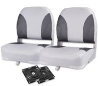 Weather Resistant Swivel Boat Seats - Set of 2 Grey/Charoal