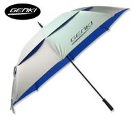 GENKI 153cm Double Canopy Durable Large Golf Umbrella - SILVER