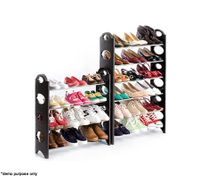 30 Pair Shoe Stackable Storage Rack - Black