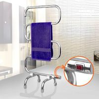 70W Heated Towel Rail - Freestanding Chrome Rack