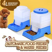 Automatic Pet Feeder & Water Dispenser Set