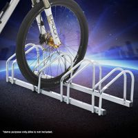 Bike Storage Rack Stand Stores 4 Bicycles