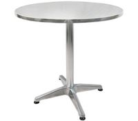 Aluminium Round Table - Height Adjustable
