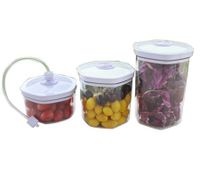 Maxkon Food Preservation 3 pcs Vacuum Canister Marinator Set