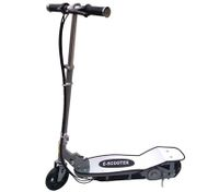 Portable Adjustable Electric Fold Out Scooter with Aluminium Footplate - Silver
