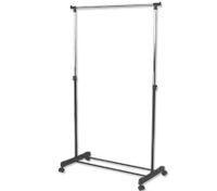 Portable Multi-Function Metal Single Rail Clothes Rack