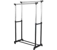 Portable Multi-Function Metal Double Rail Clothes Rack