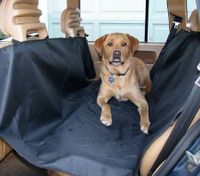 Hammock Style Water Resistant Pet Protection Nylon Car Seat Cover - Black