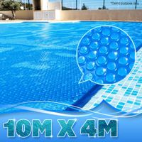 400 Micron Solar Outdoor Swimming Pool Cover Blanket - 10.0M x 4.0M