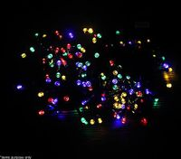 200 LED Christmas Solar Fairy Lights - Multi Coloured