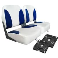 Weather Resistant Swivel Boat Seats -Blue/White