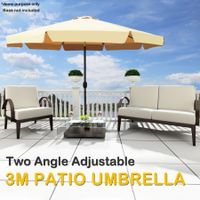 3M Tan  Patio Umbrella