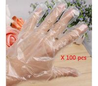 100 Clear Disposable Plastic Gloves