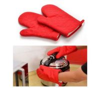Red Heat Hot and skid Resistant Oven Mitt Protect Glove