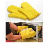 Yellow Heat Hot and skid Resistant Oven Mitt Protect Glove