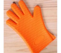 Baking Cooking Oven Mitt Non-slip Grip Heat-resistant Silicone Glove Pot Holder Yellow