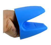 Blue Cute Silicone Heat-resistant Kitchen Oven Baking Glove Pot Mitt Tool Holder