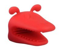 Heat-resistant Silicone Dog Oven Mitt Kitchen Baking BBQ Glove Holder Tool Red