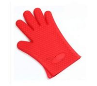 Baking Cooking Oven Mitt Non-slip Grip Heat-resistant Silicone Glove Pot Holder