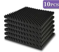 Sound Absorption Foam Square - 10 Sheets