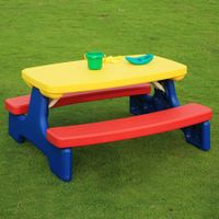 Kids Activity Table Multi-Colour Set with Fold Down Design[DN-020]