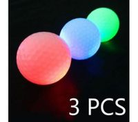3PCS Luminous Light Up Golf Balls LED Glow Night