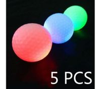 5PCS Luminous Light Up Golf Balls LED Glow Night