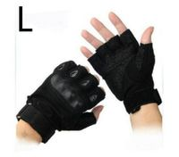 Gym Muscle Bodybuilding Black Mesh Fitness Power Lifting Weight Training Gloves L