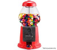 "11"" Coin-Operated Retro Gumball Dispenser"