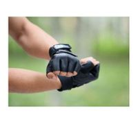 Gym Muscle Bodybuilding Black Mesh Fitness Power Lifting Weight Training Gloves