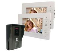 "Video Intercom Door Phone 7"" LCD Screen(2*Indoor Monitor + 1*Outdoor Camera)"