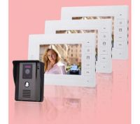 "Video Intercom Door Phone 7"" LCD Screen(3*Indoor Monitor + 1*Outdoor Camera)"