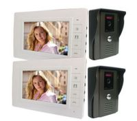 "Video Intercom Door Phone 7"" LCD Screen(2*Indoor Monitor + 2*Outdoor Camera)"