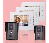 "Video Intercom Door Phone 7"" LCD Screen(3*Indoor Monitor + 2*Outdoor Camera)"