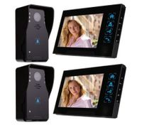 "7"" Video Door Phone Intercom Doorbell Home Security Camera Monitor Night Vision(2*Indoor Unit + 2*Outdoor Unit)"