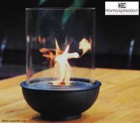 Eco Friendly Ethanol Fireplace - Round Pot