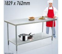 Stainless Steel Kitchen Work Bench & Catering Table (183cm x76cm)
