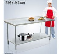 Stainless Steel Kitchen Work Bench & Food Prep Table (152cm x 76cm)