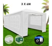 3x6m White Walled Waterproof Outdoor Gazebo
