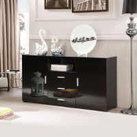 High Gloss Buffet Cabinet Black
