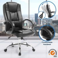 Deluxe PU Leather Office Computer Chair Tile Adjustable Home Chair