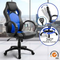 Racing Office Computer Chair Tilt Adjustable PU Leather Home Gaming Chair