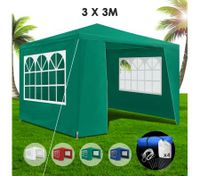 3x3m Green Walled Waterproof Outdoor Gazebo