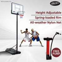 Rust Resistant Basketball Hoop System with Adjustable Height