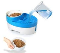 3 in 1 Automatic Pet Water Fountain Food Feeder Bowl Scoop Utensils for Dogs Cats