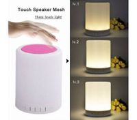 LED night light wireless bluetooth emotion Speaker light touch small desk lamp-Pink