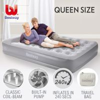 Bestway Queen Inflatable Mattress Bed Built-in Electric Air Pump