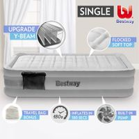 Bestway Single Inflatable Mattress Bed Built-in Electric Air Pump