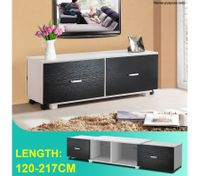 2 Drawer Adjustable TV Stand Entertainment Unit